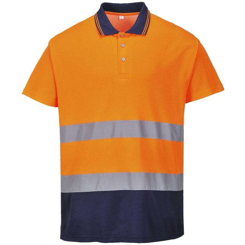 Polo bicolor Cotton Confort S174