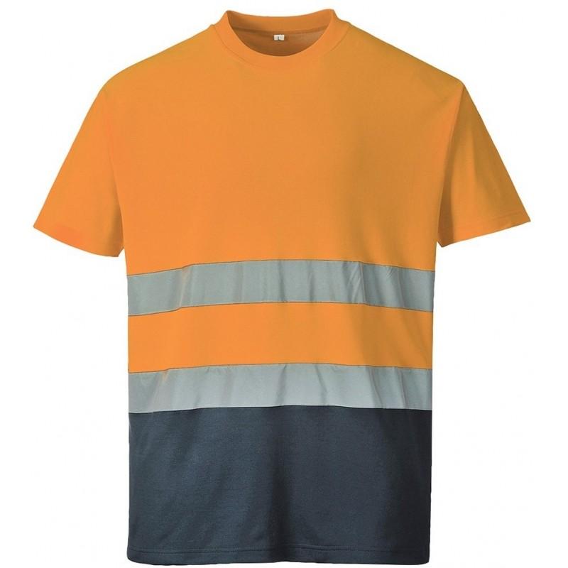 Camiseta bicolor Cotton Comfort S173