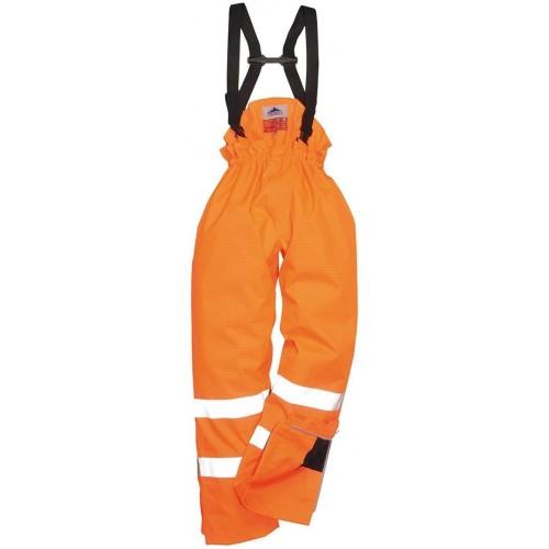 Pantalón de alta visibilidad, ignífugo y antiestático Bizflame Rain sin forro S780