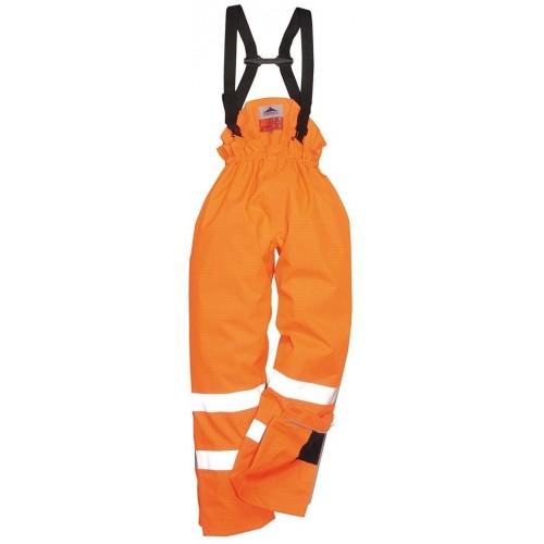 Pantalón alta visibilidad, ignífugo y antiestático Bizflame Rain con forro S781