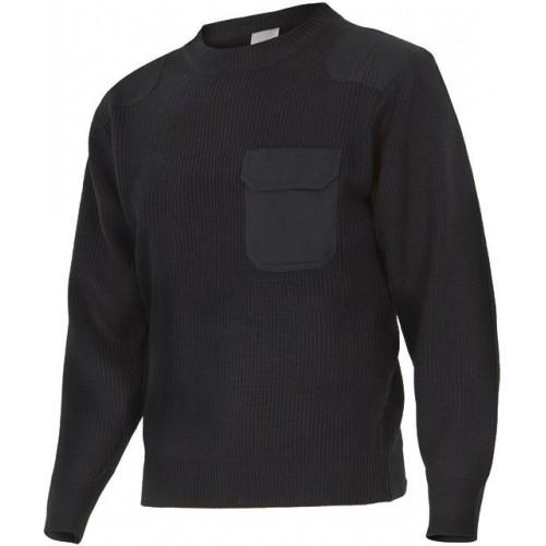 Jersey de punto grueso de cuello redondo 100