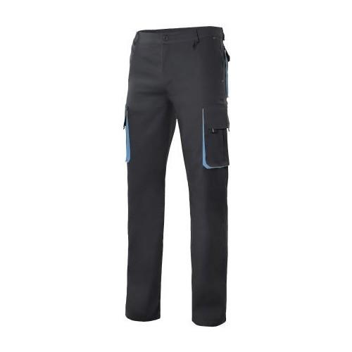 Pantalón bicolor multibolsillos con refuerzo de tejido 103004