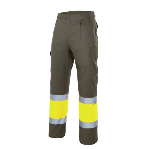 Pantalón bicolor multibolsillos alta visibilidad 157C