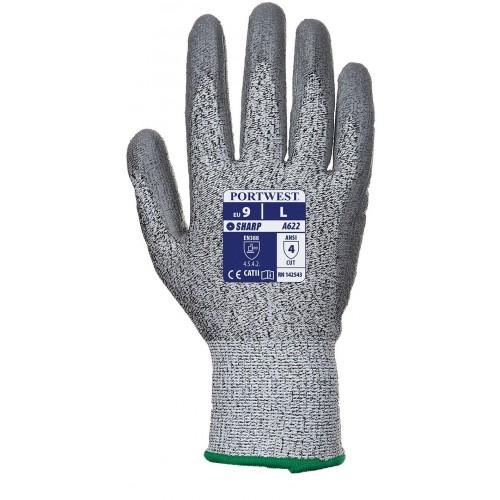 Guante Anticorte palma bañada en  poliuretano - Nivel 5 - A622