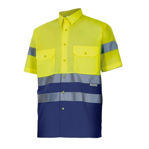 Camisa bicolor manga corta alta visibilidad 142