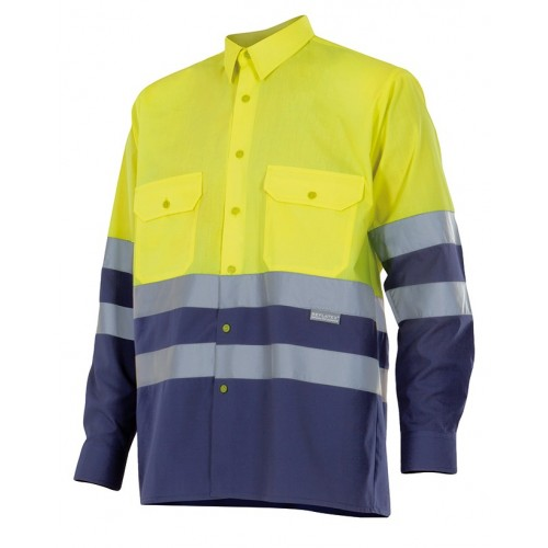 Camisa bicolor manga larga alta visibilidad 144