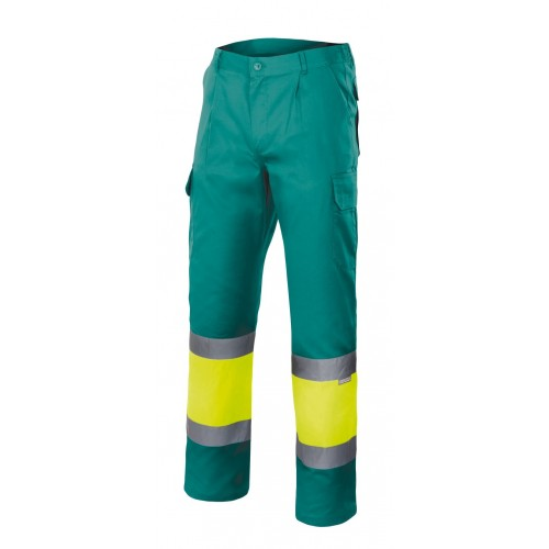 Pantalón forrado bicolor alta visibilidad 156