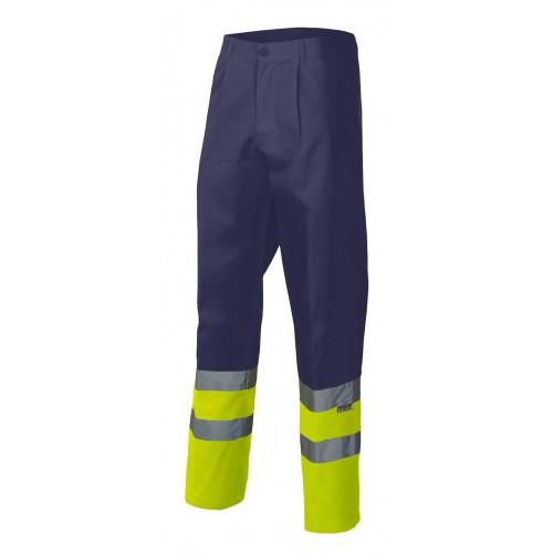Pantalón bicolor alta visibilidad con elástico en la cintura y 4 bolsillos 158