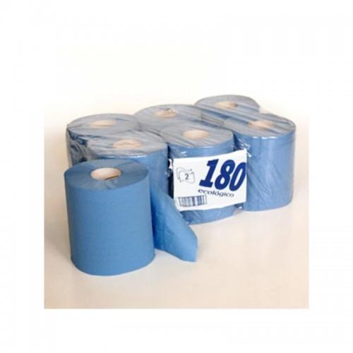 Rollo papel secamanos 2 hojas azul 935010