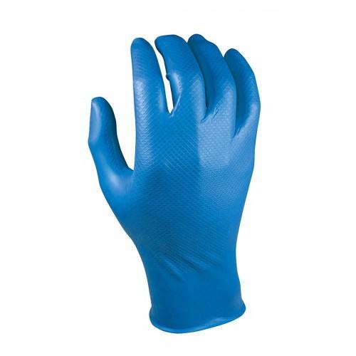 Guante de nitrilo azul de gran agarre - Largo: 300 mm - 304674 Grippaz - 50 unid.