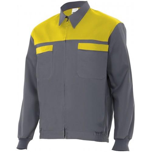 Cazadora bicolor con bolsillos CC61601