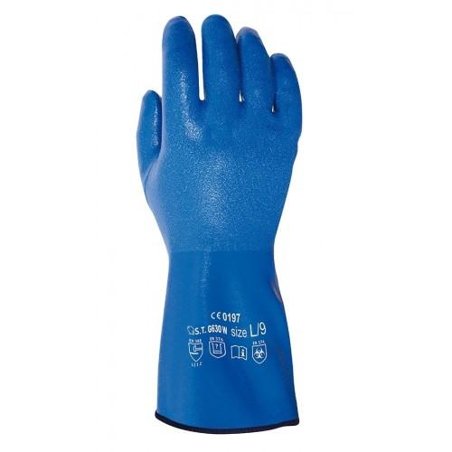 Guante de nitrilo sobre forro de algodón - Muy flexible y ligero - Resistente - G630W Phulax