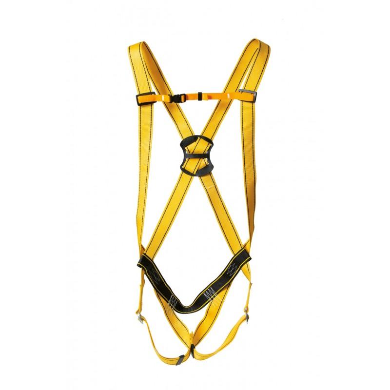 Arnés anticaídas básico con cintas de poliamida amarilla ANCARES 80050