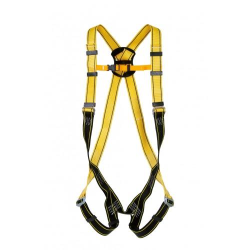 Arnés anticaída ergonómico, con cintas de poliamida amarilla GREDOS 80055