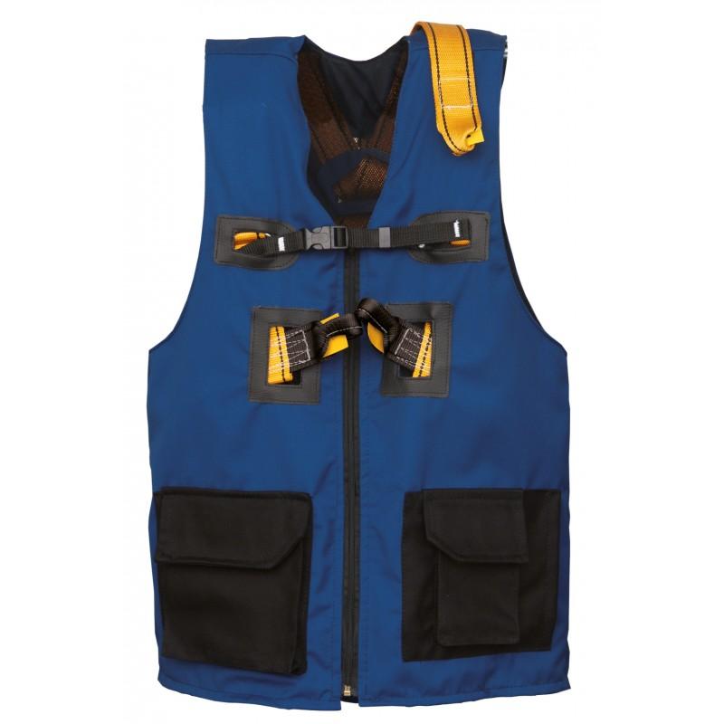 Arnés con tres puntos de anclaje y cinturón con chaleco azul FARO AZUL 80084