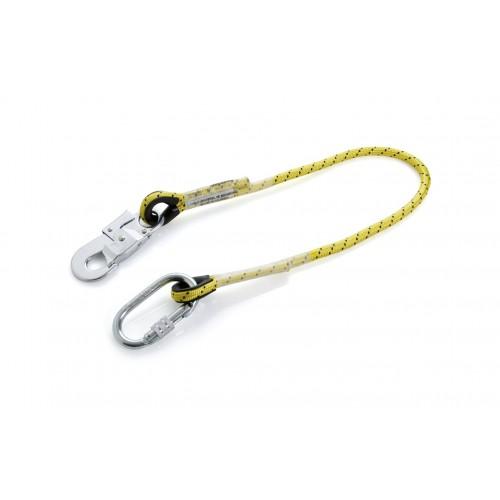 Cuerda de 1m con dos mosquetones de acero 80104