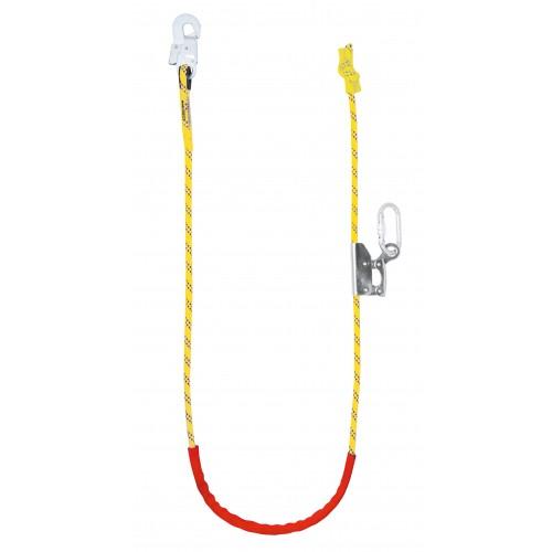 Cuerda trenzada regulable, con altochut y mosquetones 80240