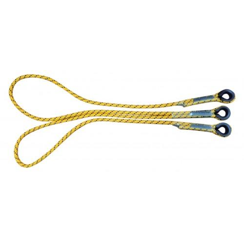 """Twin rope, doble cuerda en """"Y"""" de poliester cilíndrica 80226"""