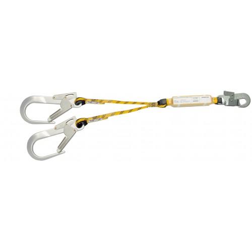 Doble cuerda de 0,9m con absorbedor y mosquetones 80227B