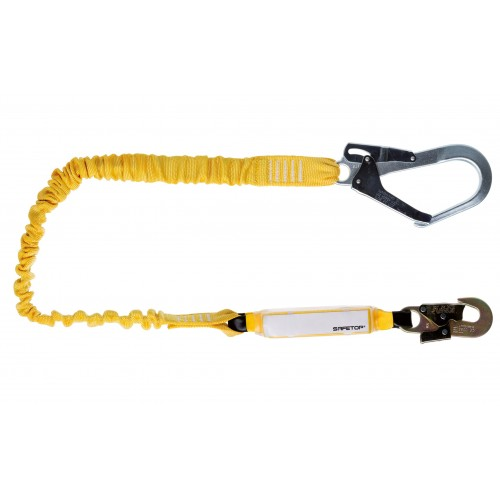 Mini absorbedor con cinta elástica de 2m de longitud y mosquetones 80163