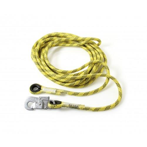 Linea de vida de 14mm de diámetro para altochut extraíble con guardacabos 80151