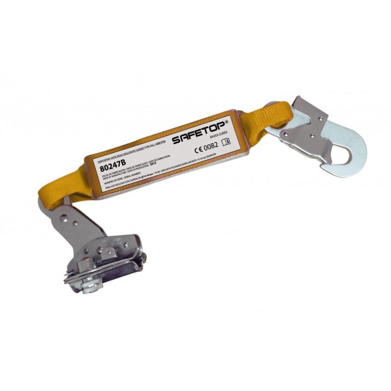 Altochut automático con absorbedor y mosquetón para cuerda de 12-14mm 80247B