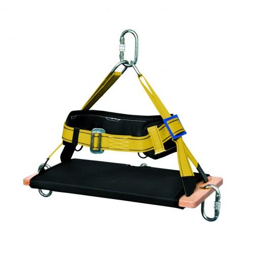 Silla auxiliar para trabajos en alturas, con base rígida de madera forrada y cinturón lumbar ajustable 81303