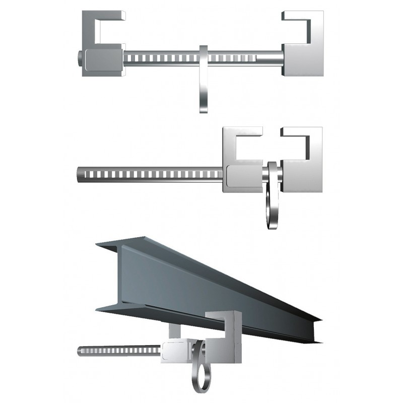 Anclaje de garras en inox para instalación rápida en cualquier soporte o viga 80274