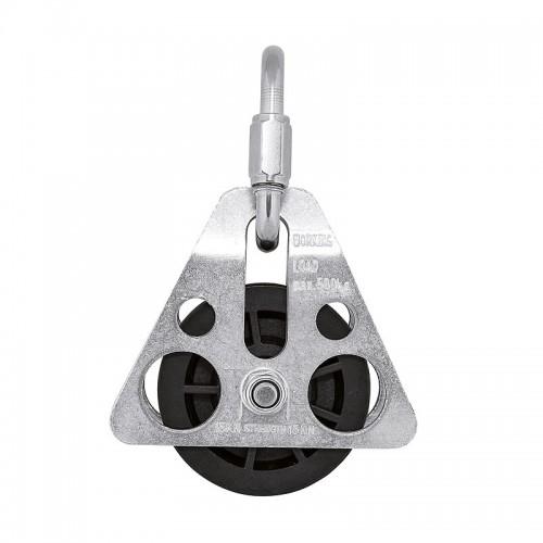 Polea de acero galvanizado composite para trípode para cuerda de 12mm 80027