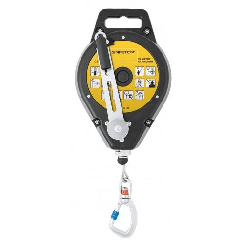 Torno retráctil de cable de 25m con dispositivo de elevación de rescate con manivela 80305