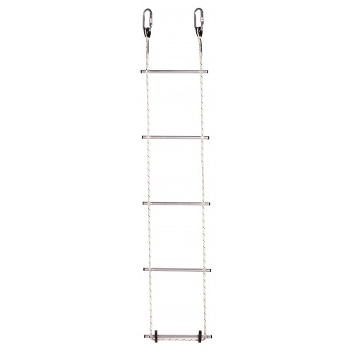 Escalera de 11m, con 37 peldaños de aluminio, unidos por dos cuerdas paralelas de poliamida 80360