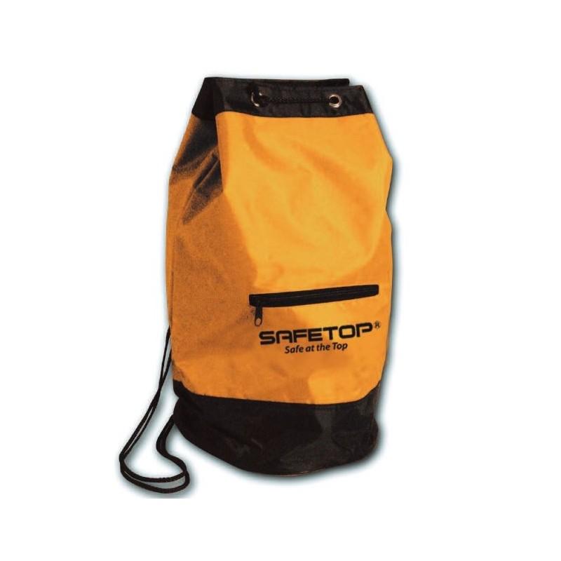 Bolsa bicolor amarillo/negro cilíndrica de poliéster reforzado, con revestimiento de poliuretano y bolsillo de cremallera 80122