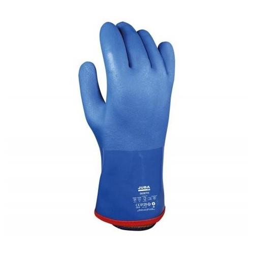 Guante de PVC doble capa sin costuras sobre soporte de algodón con guante extraíble interior térmico - 5658TH