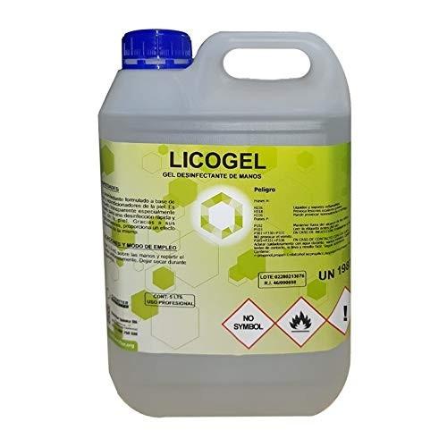 Gel hidroalcohólico de 5l - UN1987