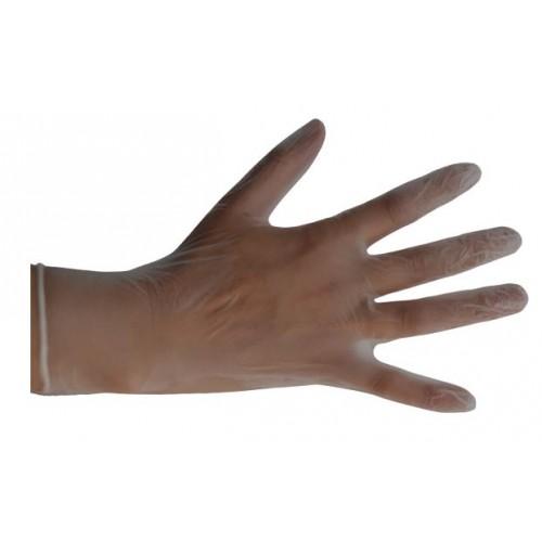 Guante desechable de vinilo transparente sin polvo (100 ud.)