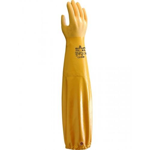 Guante de nitrilo de muy alta calidad con manguito integral - 65 cm - 772