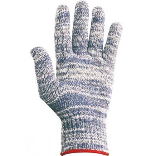 Guante textil de poliester/algodón - Buena calidad - Tallaje Hombre -  JASPE