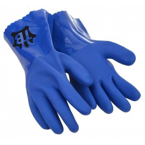 Guante de PVC de triple baño - Azul - 30 cm - Grosor: 1.5 mm - 666VINIL