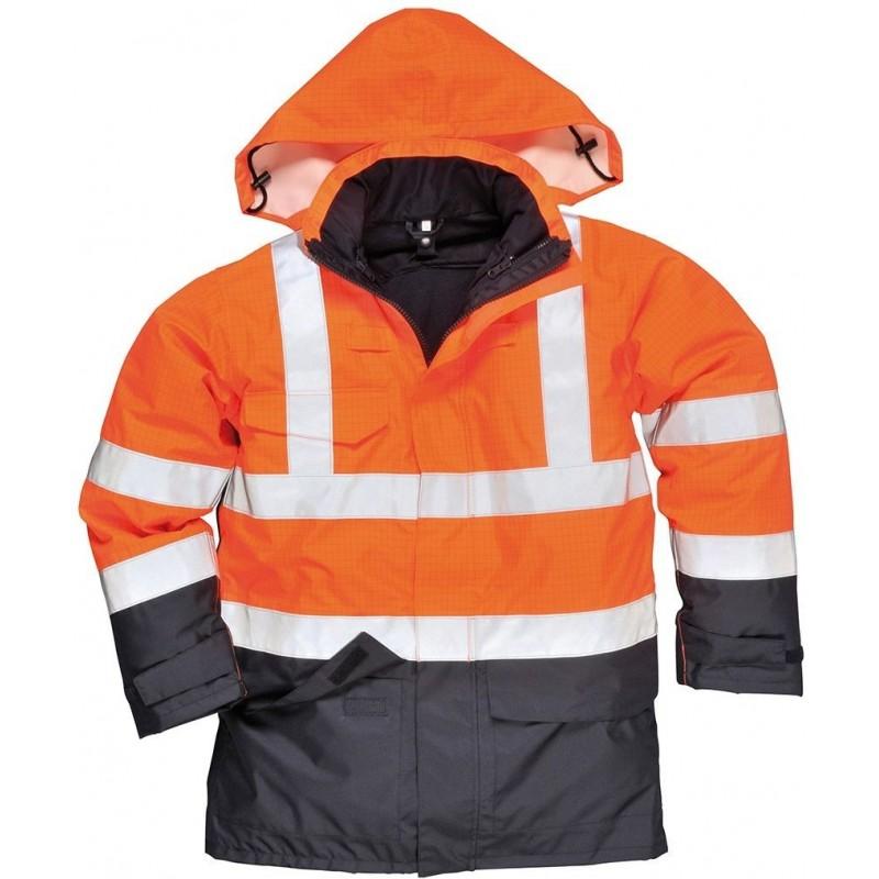 Chaqueta alta visibilidad multi-protección Bizflame Rain S779
